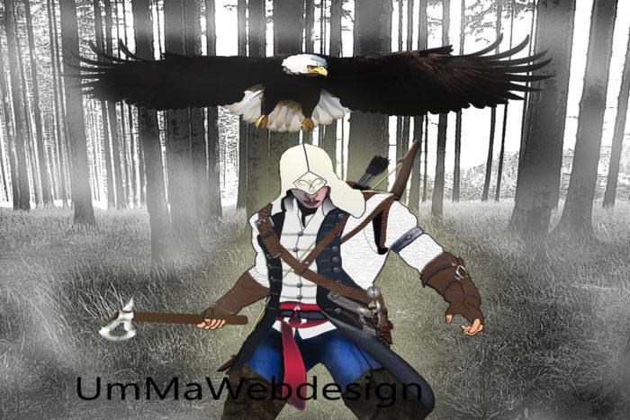 Assassins Creed Phohtoshop manipolazione
